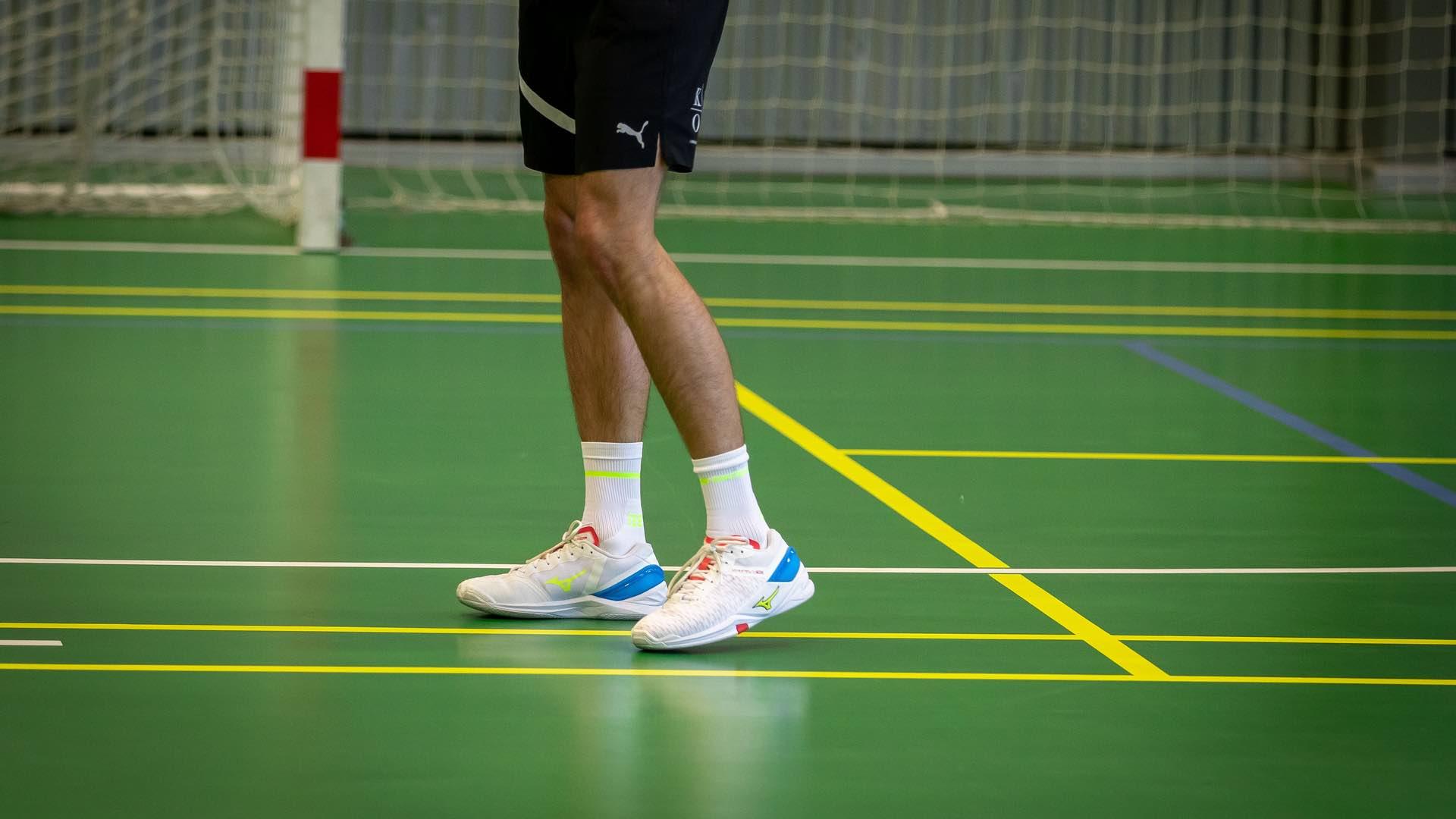 Sportssko, indendørssko, håndbold, fodbold, hælsmerter, indlæg