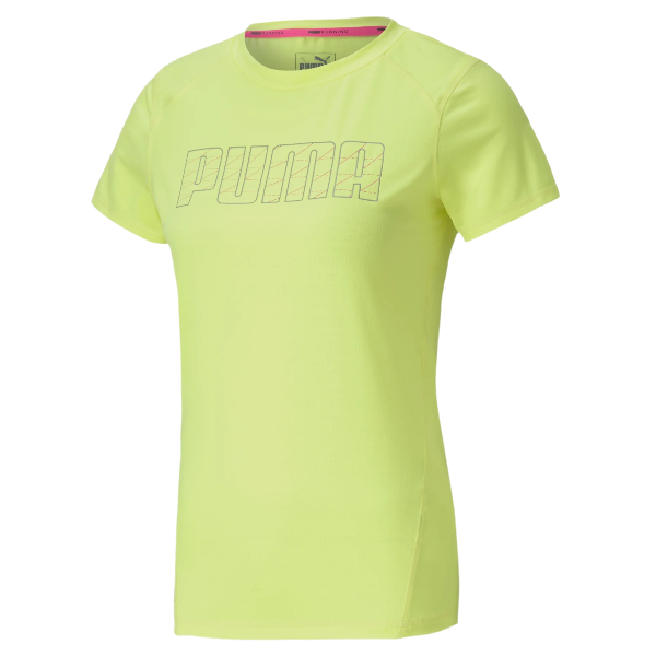 Puma Run Logo SS Tee Yellow dame