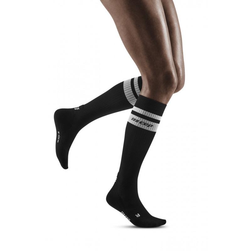 CEP 80's compression socks, black/white, women