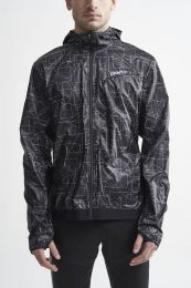 Craft Lumen Wind Jacket M P Shapes-BLACK
