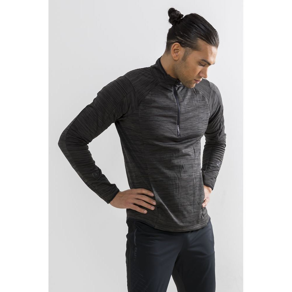 Craft Grid Halfzip Black herre