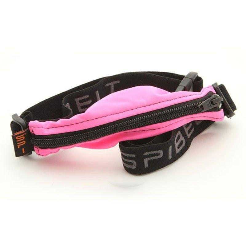 Spibelt Venture Belt Black, Black Zip, Hot Pink Trim