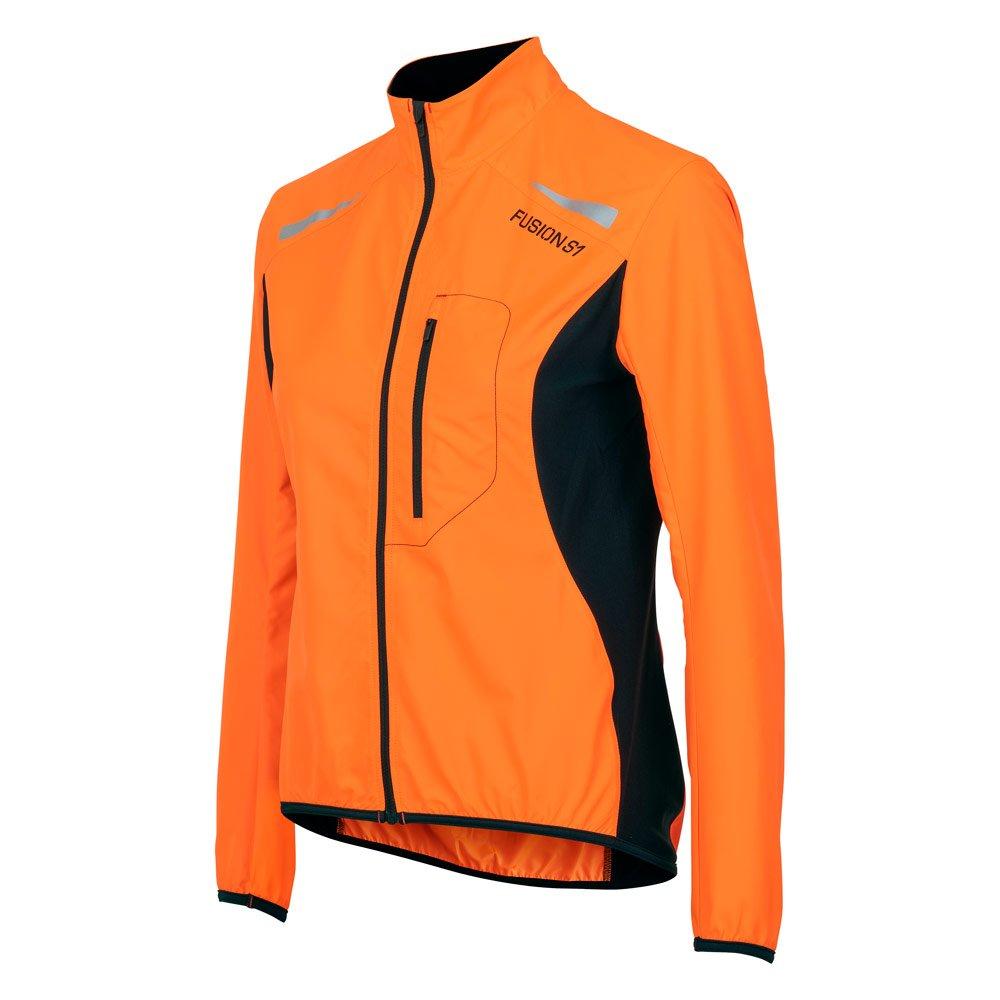 Fusion S1 Run Jakke dame Orange/Black