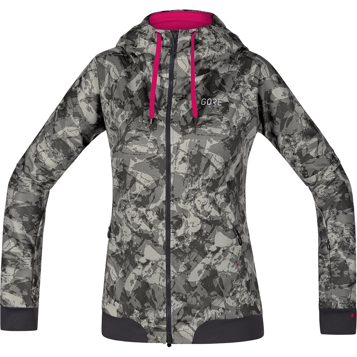 W Gore C5 Trail Camo Hooded Jacket Windstopper