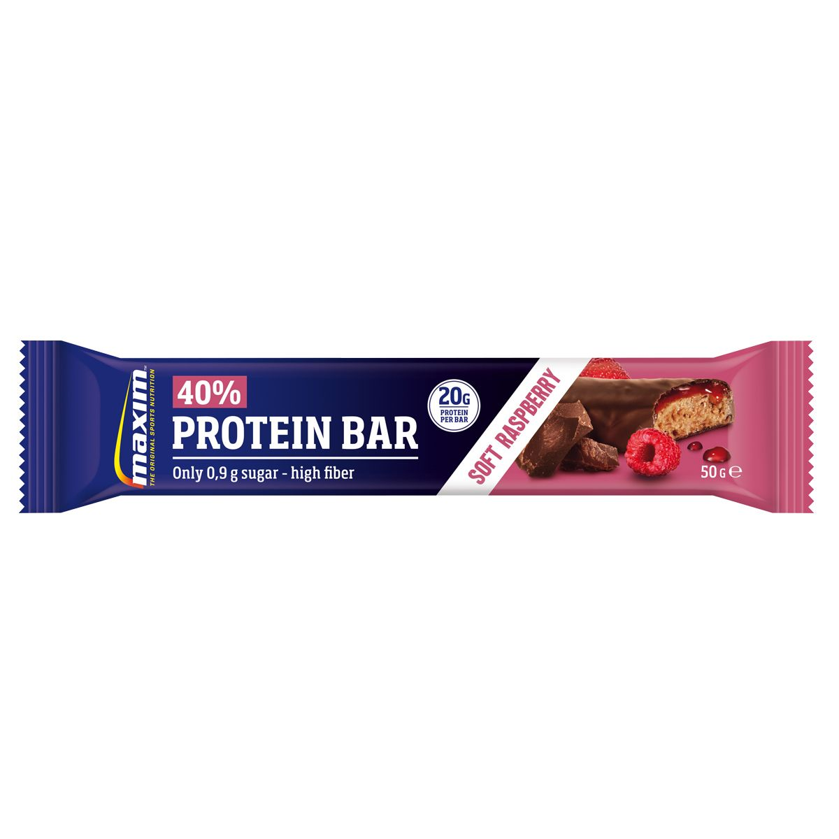 Maxim 40% Protein Bar Choco Rasp, 50 g