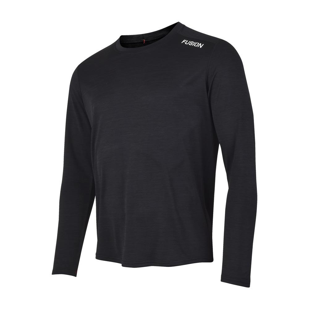 Fusion C3 LS Shirt herre Blackmelange