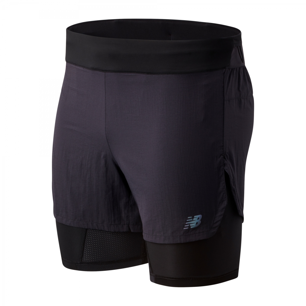 "New Balance Q Speed 5"" 2-in-1 Shorts herre"