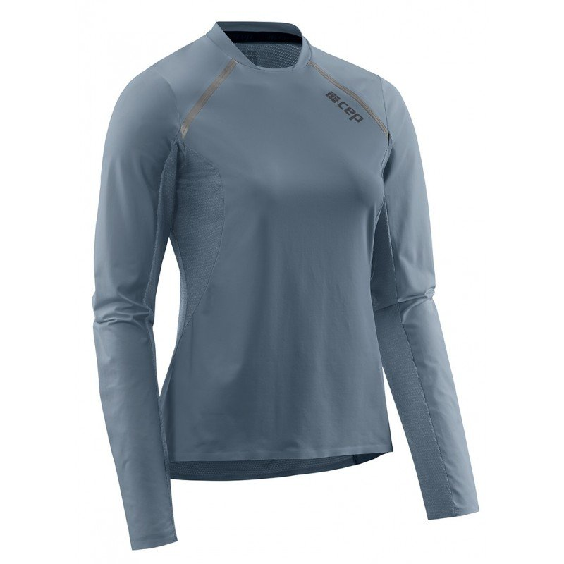 CEP run shirt, long sleeve, grey, women