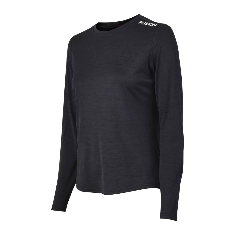Fusion C3 LS Shirt dame Blackmelange