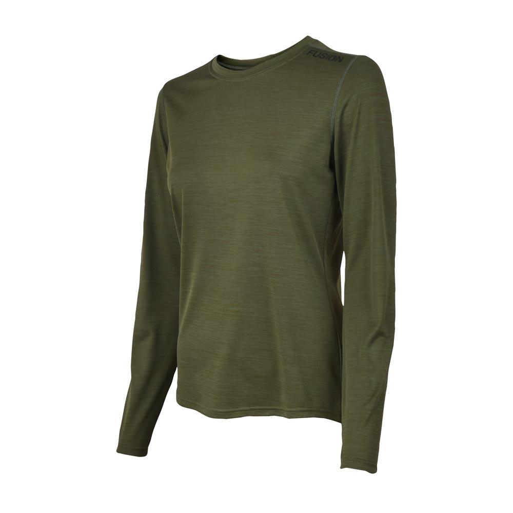 Fusion C3 LS Shirt dame Greenmelange