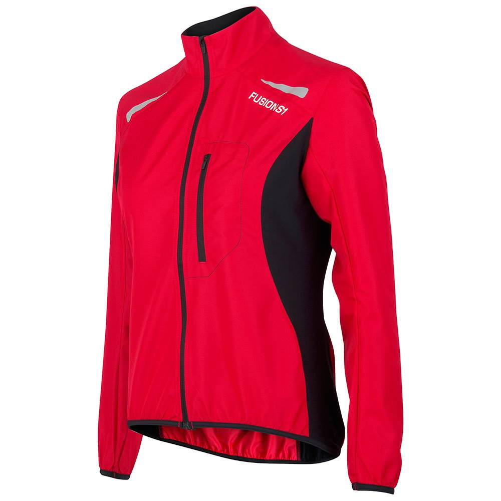 Fusion S1 Run Jakke dame Red/Black
