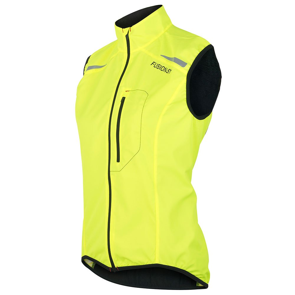 Fusion S1 Run Vest dame Yellow/Black