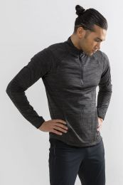 Craft Grid Halfzip M Black Melange