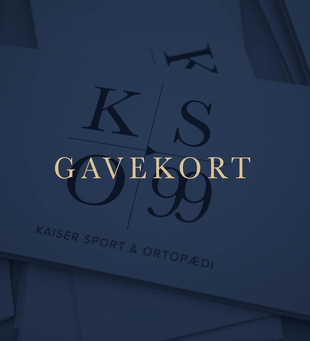køb gavekort til kaiser sport & ortopædi